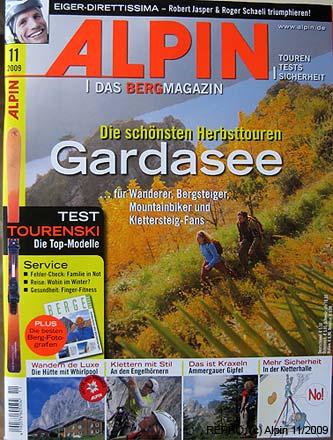 Titulní stránka časopisu Alpin 11-2009