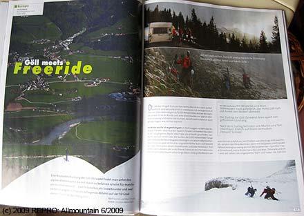 Titulní stránka časopisu Allmountain 6.2009