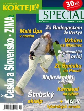 Titulní strana časopisu Koktejl Speciál zima 2009