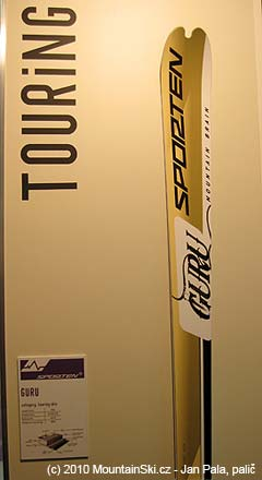 Skialpinistické lyže Sporten Guru, délka 163 cm, hmotnost 900 gramů