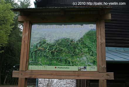 Panoramatická mapa košického okolí u chaty Lajoška