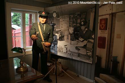 V muzeu norské pošty ve skanzenu Maihaugen