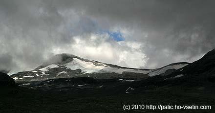 Zbytky ledovce Kistenbreen