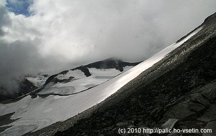 Ledovec a mraky v plné kráse - výstup na Galhopiggen