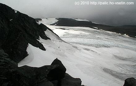 Led a ledovcová moréna