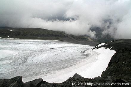 Dolní část stejného ledovce