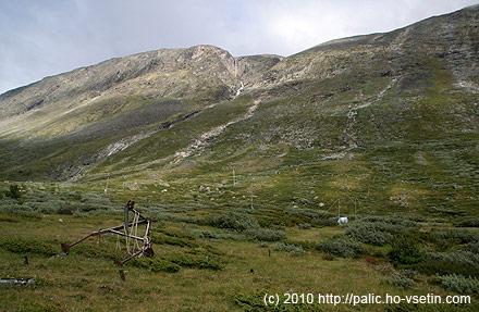 Trochu zlikvidovaný lyžařský vlek u Spiterstulenu