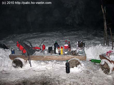 Základní propriety k zimnímu táboření
