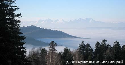 Vysoké Tatry byly krásně vidět, bohužel sněhu je vnichmálo