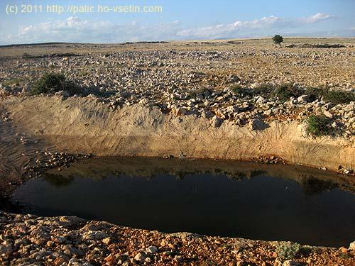 Vodní plocha na náhorní planině ostrova Krk